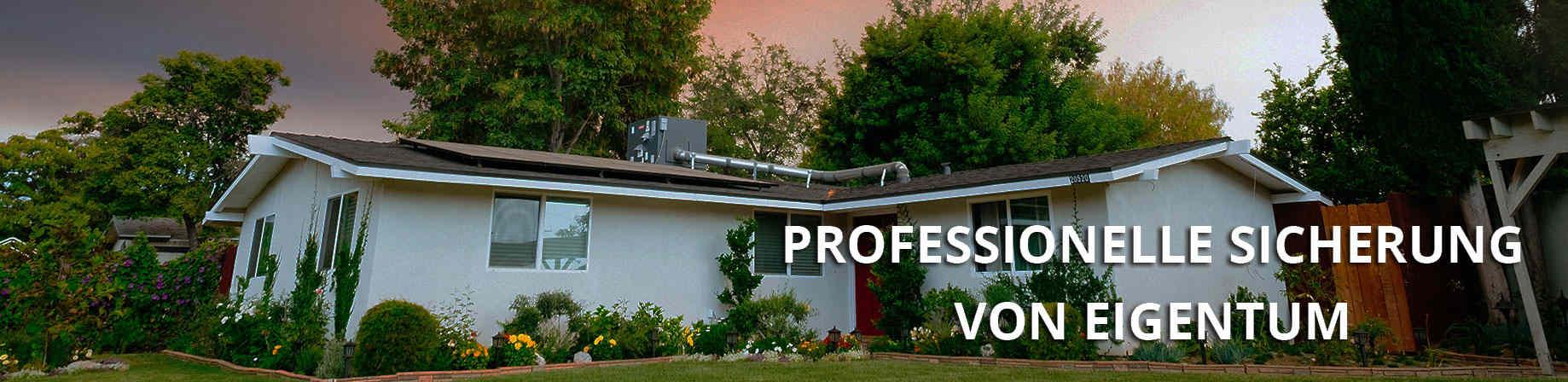 Professionelle Sicherung von Eigentum