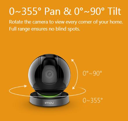 Pan- and tilt control via APP
