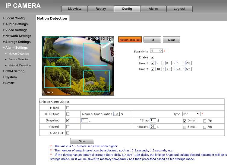 Steuerung der IP Unterwasserkamera W50316